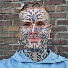 Amazing Face Tattoos Designs For Mens – Best Tattoos In The World, Best Tattoos For Me, Best Tattoos For Men, Best Tattoos Designs, Best Tattoos Ideas Kopf Tattoo, Face Tattoos For Women, Best Tattoo Shops, Best Face Products, Cool Tattoos, Tattoo Designs, Halloween Face Makeup, Ink, Fantasy