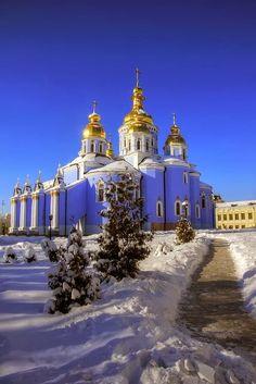 Winter in Kiev, Ukraine