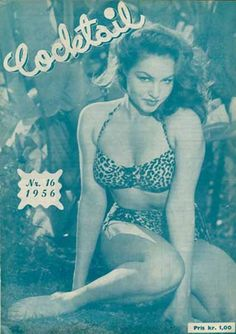 Cocktail Magazine. 1956. Julie Newmar cover girl .