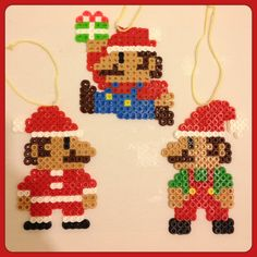 Super Mario Christmas Ornaments (Set of 3). $11.00, via Etsy.