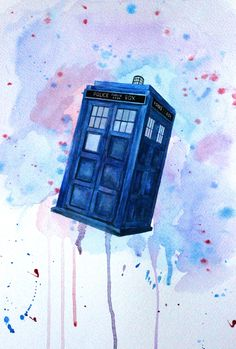 Doctor Who TARDIS fanart by Tumblr user myquietlifeasanartist