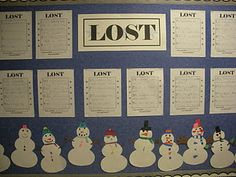 Lost! Create a snowman, and describe the snowman so that others can find the one that is yours. I love this!