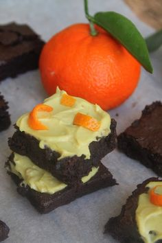 I Am Into This: Fudgy Almond Butter Brownies With Orange Cashew Cr...