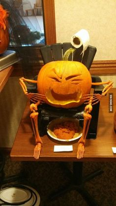 My buddy said he wasn't artistic so. Halloween Pumpkin Carving Stencils, Scary Halloween Pumpkins, Pumpkin Carving Contest, Pumpkin Carving Party, Funny Pumpkins, Diy Halloween Decorations, Halloween Kids, Halloween Crafts, Halloween 2020