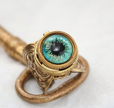 Ring, Poison Ring, Steampunk Evil Eye, Secret Compartment, Gothic Ring ...