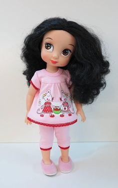 Disney Animator doll clothes. Only pajamas with imprint in this listing. Doll and slippers are not included. For shoes please see my other listings.