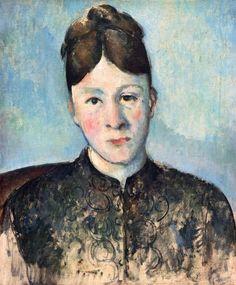 Paul Cézanne - Portrait madam Cezanne ll