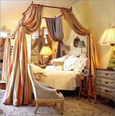 Image detail for -New Home Interior Design: English Countryside - Cosy Cottage Canopy Bedroom, Diy Canopy, Canopy Tent, Bedroom Decor, Canopies, Master Bedroom, Window Canopy, Beach Canopy, Backyard Canopy