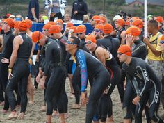 Macca race start at the Malibu Triathlon