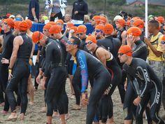 Macca race start at the Malibu Triathlon