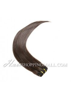 "#4 10""-24"" Indian Remy Hair wefts extensions Straight[WT4ST]"