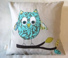 toowhit toowhoo! Blue owl cushion cover. Love everything Rhiannon makes - absolutely gorgeous.