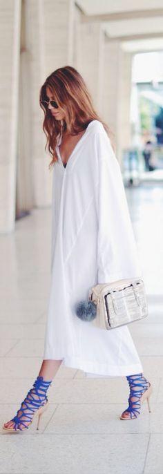 #street #fashion white oversized @wachabuy