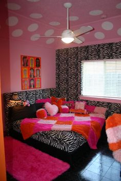 Teen Girl Bedrooms decorating tips and tricks Super decorating to kick-start a delightfully vibrant cozy teen girl bedroom wall colors . This fantabulous suggestion pinned on this cool date 20190321 , Trick Idea reference 4365706124 Bedroom Wall Colors, Bedroom Themes, Bedroom Decor, Bedroom Ideas, Teen Girl Bedrooms, Teen Bedroom, Zebra Bedrooms, Teen Rooms, Girl Rooms