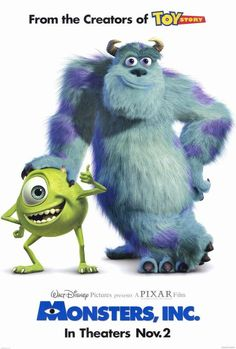 Ah, Pixar. The makers of Toy Story, Monster Inc., and Monsters University. Horror Movie Posters, Disney Movie Posters, Disney Movies, Film Posters, Bonnie Hunt, Billy Crystal, Walt Disney Pictures, Love Movie, Movie Tv