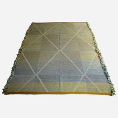 Kelim – Grün/Türkis/Blau  Dieser Teppich stammt aus einer der besten, hochwertigsten Teppichkollektionen Marokkos