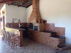 Fogão a Lenha Com Forno e Churrasqueira Construído no Santa Mônica, Igarapé.