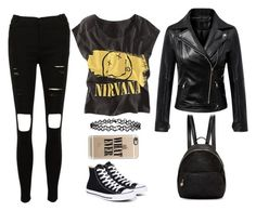 """""""Nirvana"""" by lucy-wolf ❤ liked on Polyvore featuring Converse, Chicnova Fashion, STELLA McCARTNEY, Casetify and Accessorize"""