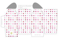 Imprimible caja corazón