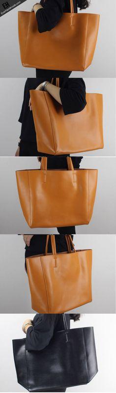 Genuine Leather handbag shoulder bag large tote for women