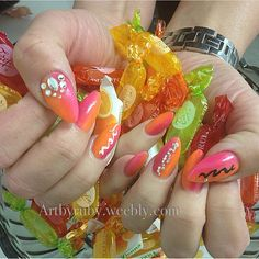 NSI nails, using Polish Pro!  Designs created by: Ruby
