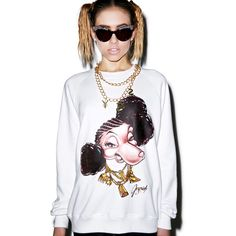 Joyrich Neneh Crew Pullover ($90) ❤ liked on Polyvore