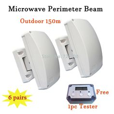 956.00$  Watch more here  - 6pairs Perimeter Curtain-Beam Detector for Outdoor Barrier 150m Protection Range with LCD Microwave Tester, DHL Free Shipping