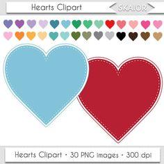Hearts Clipart Pastel Hearts Clip Art Scrapbooking by skaior