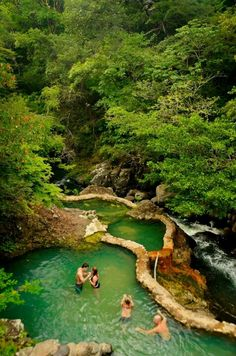 Thermal Hot Springs. Costa Rica….If this is at Tabacon in Arenal, it was also surrealistically magical at night.