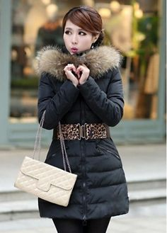 Luxury Faux Fur Collar Design High Waist Black Coats with Zip with cheap wholesale price, buy Luxury Faux Fur Collar Design High Waist Black Coats with Zip at wholesaleitonline.com !