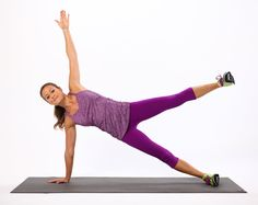 2. Side Plank With Leg Lift (Right Side)