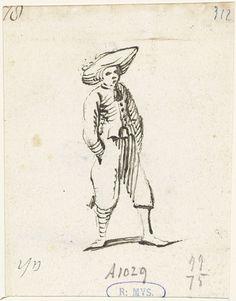 Harmen ter Borch | Jongeman met handen in zijn zakken, naar rechts, Harmen ter Borch, 1652 |