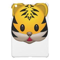 Cute Tiger Emoji Cover For The iPad Mini - cat cats kitten kitty pet love pussy