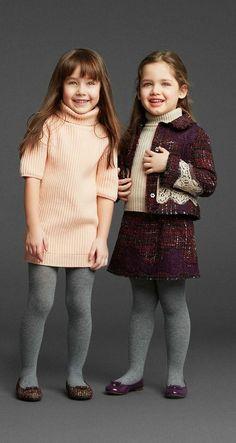 Dolce&Gabbana Winter 2014 Kids collection so cute ⋆ Instyle Fashion One Little Girl Fashion, Little Girl Dresses, Toddler Fashion, Kids Fashion, Girls Dresses, Kids Winter Fashion, Winter Fashion Outfits, Outfit Winter, Autumn Fashion
