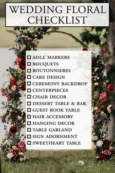 Don't get overwhelmed by all the bloom options - use this wedding floral checklist to incorporate flowers throughout your day!