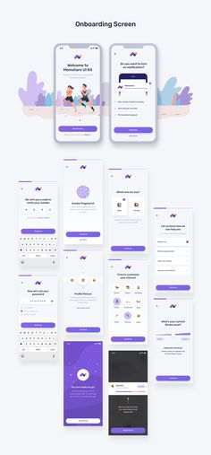 Mobile UI UX for fitness and health app with many features such as step tracking, calorie counter, fitness and workout, meditation, podcast and many more. This template / UI kit is available on Sketch and Figma. Design Web, App Ui Design, Creative Design, Best App Design, Android App Design, Android Ui, Training Apps, Mental Training, Web Mobile