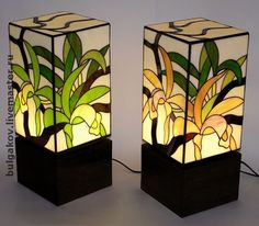 """Светильник """"Орхидеи"""". Витраж Тиффани. - светильник,Витраж,тиффани,орхидея"""