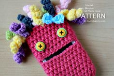 New Pattern – Crochet Hairy Monster Cell Phone Cover « Pattern « Zoom Yummy