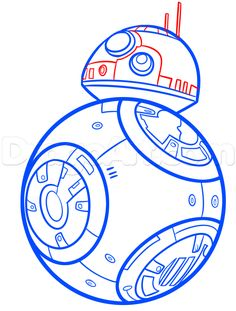 how to draw bb-8 step 6