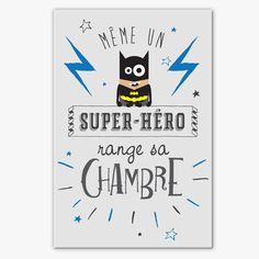 Tableau déco chambre enfant - super-héro