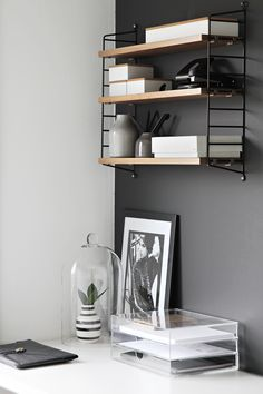 Via Stylizimo | String System | Home Office | Grey White Wood
