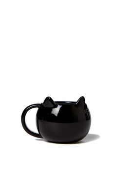 Sip your coffee out of this cat head shaped mug! Made from ceramic. Dishwasher & microwave safe.