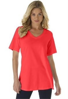 Plus Size V-Neck Ultimate Tee