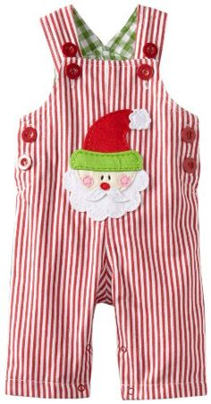 Amazon.com: Mud Pie Baby-Boys Infant Santa Overall: Clothing