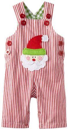 Amazon.com: Mud Pie Baby-Boys Infant Santa Overall: Clothing
