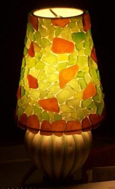 Ole's Sea Glass Lamp Shade - Seattle