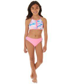 Little Girl Swimsuits, Cute Little Girl Dresses, Beautiful Little Girls, Bikini Girls, Bikini Set, Flounce Bikini, Halter Bikini, Little Girl Models, Kids Swimwear