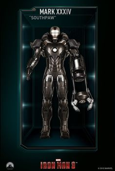 tony stark all iron man suits gallery chicago mark xxxiv southpaw tony stark all iron man suits gallery ironman voltagebd Images