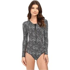 8e19b74625 Volcom Henna Spirit Bodysuit (Black) Women's Swimsuits One Piece ($55) ❤  liked