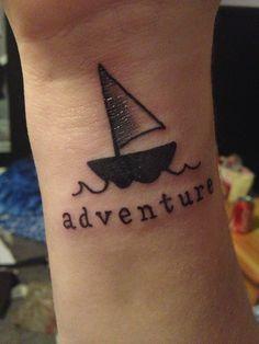 My first tattoo :) #tattoo #sailboat